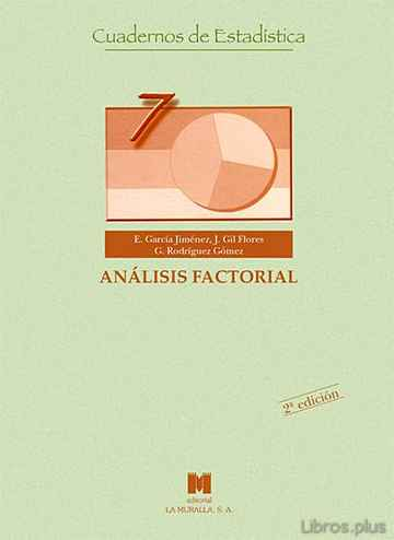 Descargar gratis ebook ANALISIS FACTORIAL en epub