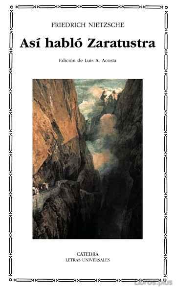 ASI HABLO ZARATUSTRA libro online