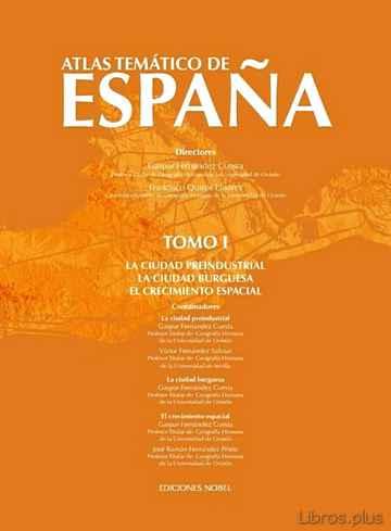 ATLAS TEMATICO DE ESPAÑA TOMO I libro online