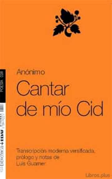 CANTAR DE MIO CID (EDICION DE LUIS GUARNER) libro online