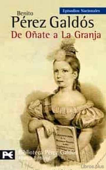 DE OÑATE A LA GRANJA libro online