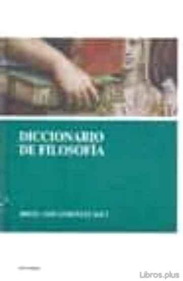 DICCIONARIO DE FILOSOFIA libro online