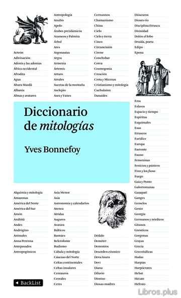 DICCIONARIO DE MITOLOGIAS libro online