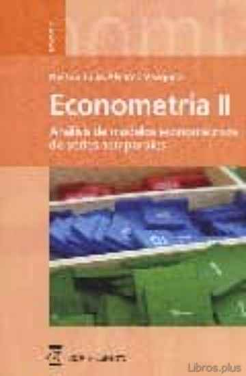 Descargar gratis ebook ECONOMETRIA II ; ANALISIS DE MODELOS ECONOMETRICOS DE SERIES TEMP ORALES en epub