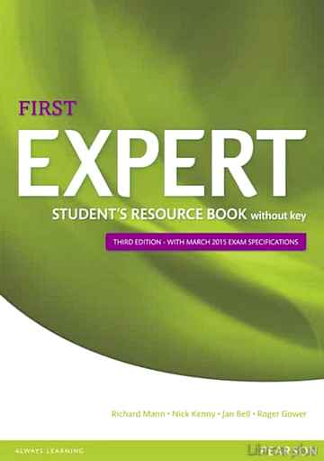 Descargar gratis ebook EXPERT FIRST 3RD EDITION STUDENT S RESOURCE BOOK WITHOUT KEY en epub