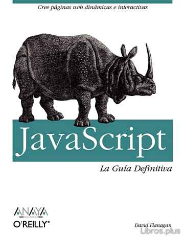 Descargar gratis ebook JAVASCRIPT: LA GUIA DEFINITIVA (ANAYA MULTIMEDIA) en epub