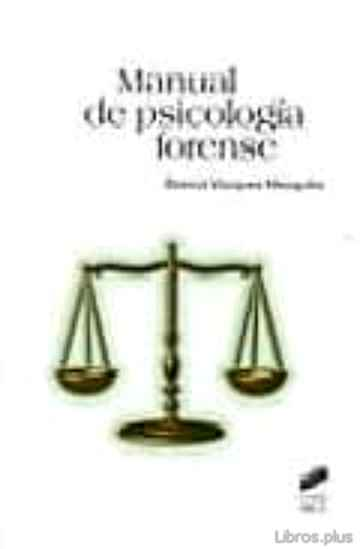 Descargar gratis ebook MANUAL DE PSICOLOGIA FORENSE en epub