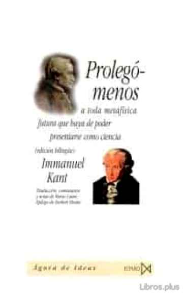 Descargar gratis ebook PROLEGOMENOS A TODA METAFISICA en epub